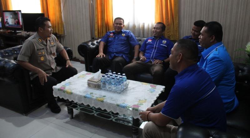 Kapolres Madina Menerima Kunjungan Silahturahmi DPD KNPI