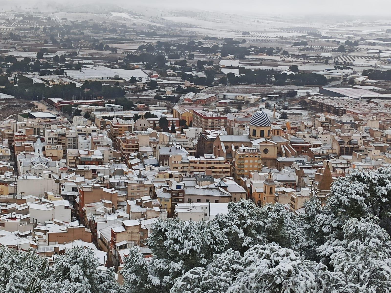 Yecla tras nevada Filomena. Enero 2021
