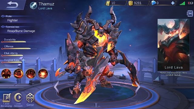 Build Item Thamuz Mobile Legends: Chief Of The Abyss! - Mario Bd