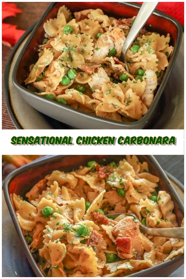 #Sensational #Chicken #Carbonara #chickenrecipes #recipes #dinnerrecipes #easydinnerrecipes