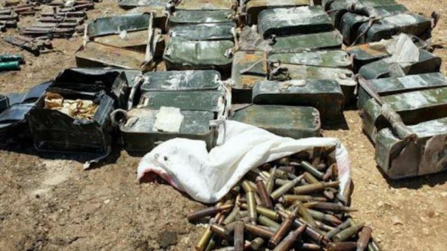 Ejército sirio incauta armas abandonadas por terroristas en Homs