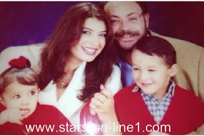منال سلامه و زوجها و ابنتها