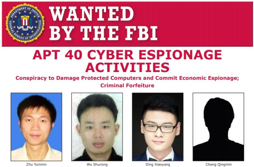 4 APT40 Chinese Hackers Charged for Developing Malware & Hacking U.S Companies, Universities & GOV Entities