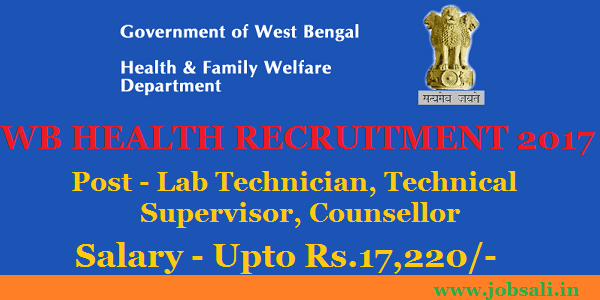 Medical Officer Jobs, Medical jobs in West Bengal, health and Family Welfare