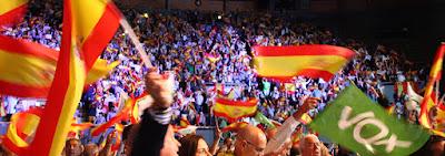 VOX, vistalegre, acto, personas, españa, bandera, valentía