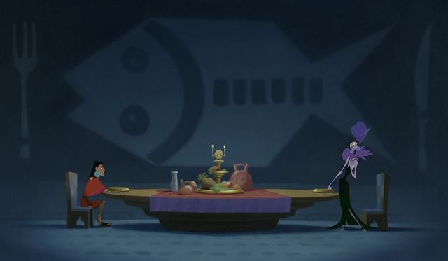 Kuzco and Yzma Dinner Scene Emperor's New Groove Disney