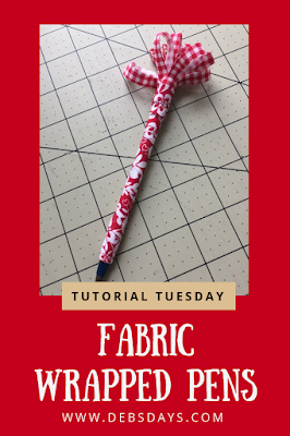 Scrap Fabric Wrapped Decorated Pens Craft Project