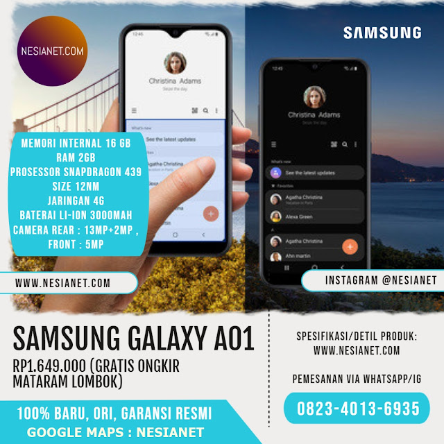Jual Samsung Galaxy A01 Smartphone Mataram Lombok