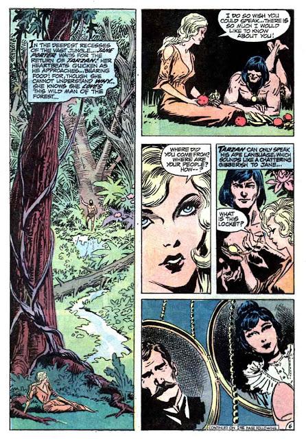 Tarzan v1 #210 dc bronze age comic book page art by Joe Kubert