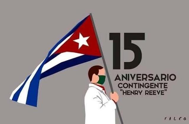 A brigada Henry Reeve celebrou recentemente seu aniversário de 15 anos de prestação de assistência médica em todo o mundo.
