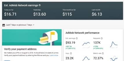 AdMob Dashboard Check Earning and Payment