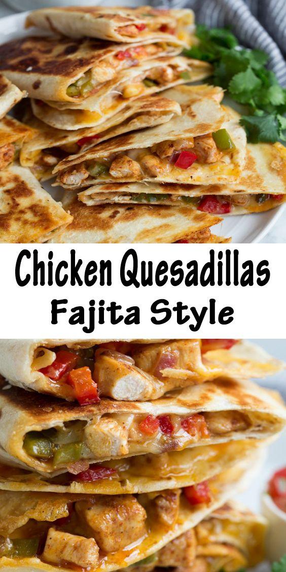 The Best Chicken Quesadillas Fajita Style