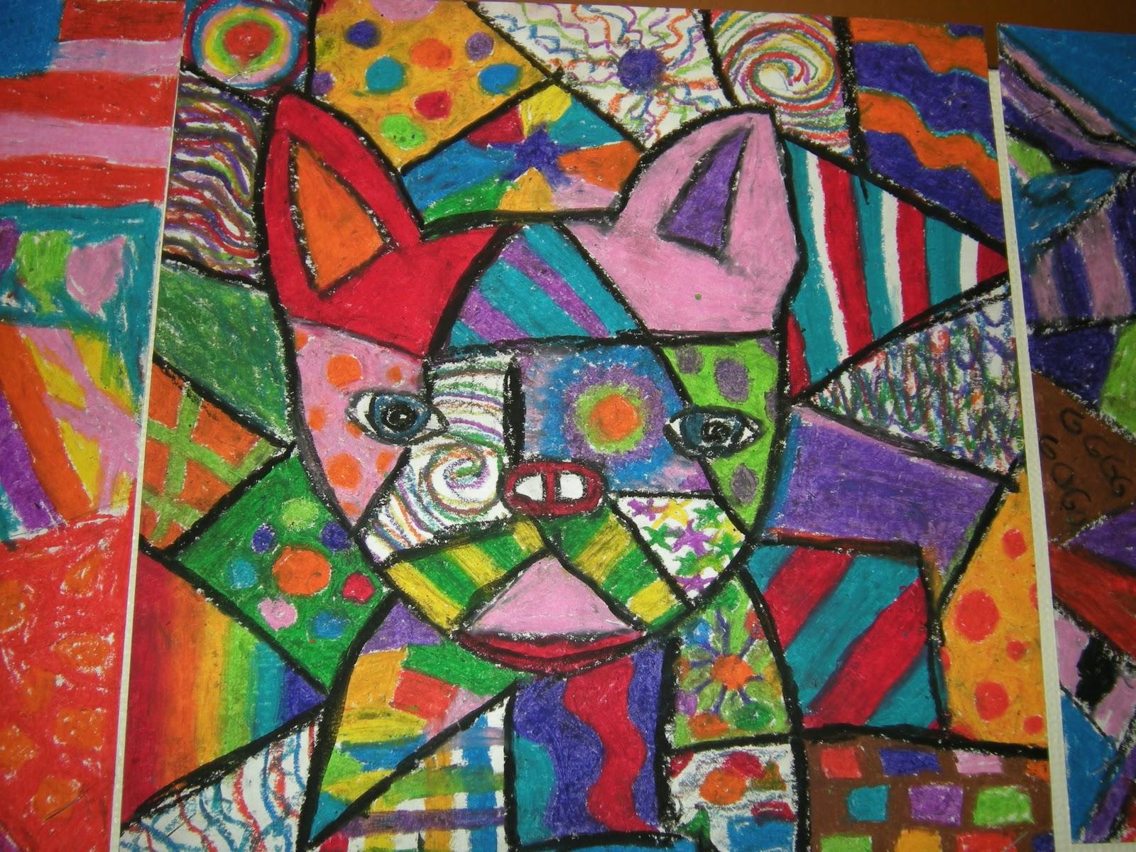Mrs. Pierce's Polka Dot Spot: Picasso Dogs