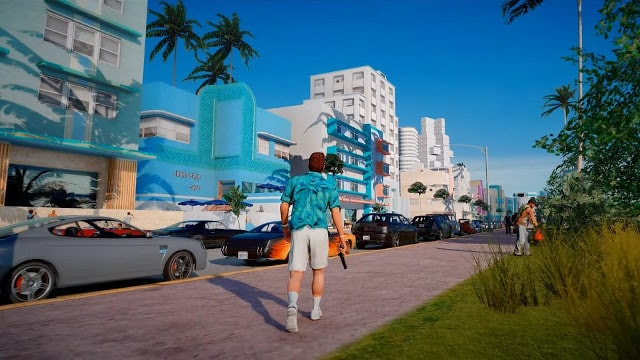 Gta Vice City Remastered Walking in the city
