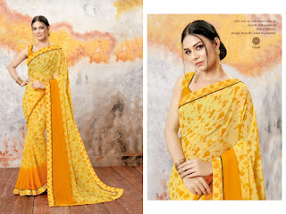 Kodas Dry Fruit Georgette Saree catalog wholesaler