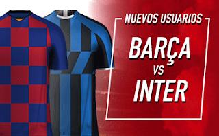 Sportium Bono champions: Apuesta 1€ y te damos 50€ Barcelona vs Inter 2-10-2019