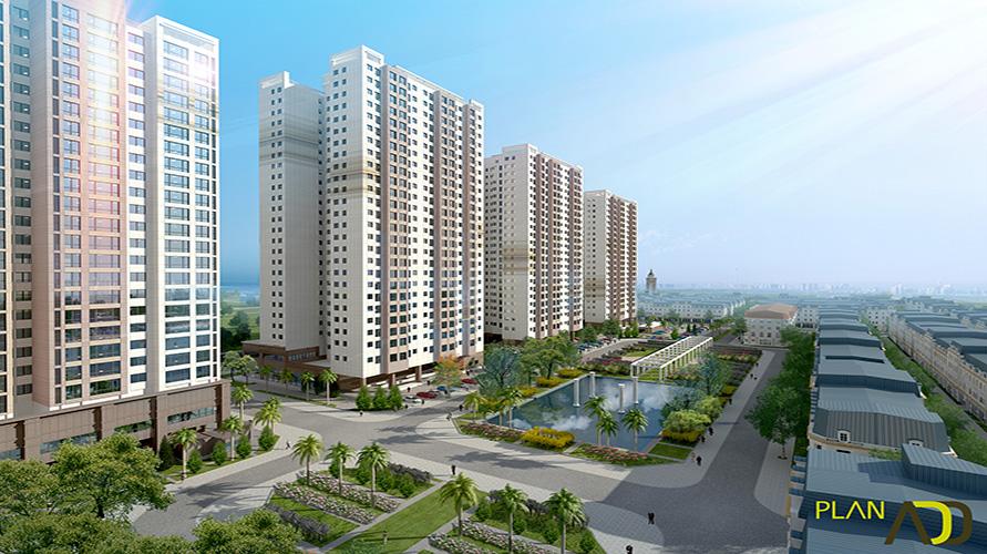 Phối cảnh dự án căn hộ The K Park Văn Phú Hà Đông