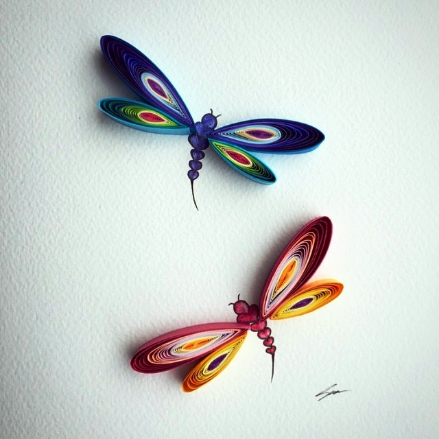 Paper quilling art by sena runa easy origami for Quilling paper art