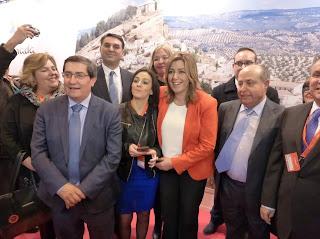 Susana Días, stand de Andalucía,Fitur, La vuelta al mundo de Asun y Ricardo, round the world, mundoporlibre.com