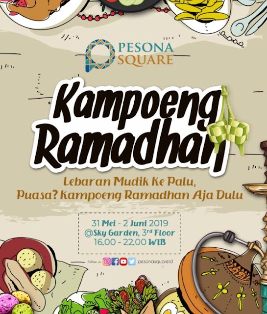 midnight sale dan kampung ramadhan di pesona square