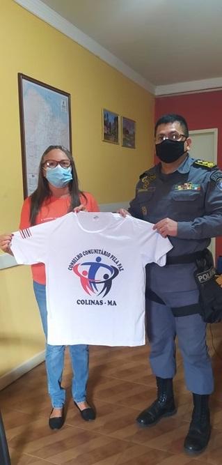COMANDANTE  DO 33°BATALHÃO RECEBE VISITA DE MEMBROS DO CONSELHO COMUNITÁRIO PELA PAZ DO MUNICÍPIO DE COLINAS-MA