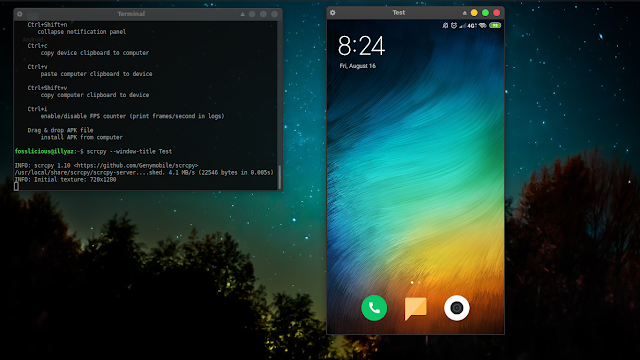 Screen Mirroring Android On Ubuntu