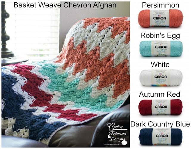 Basket Weave Chevron Afghan