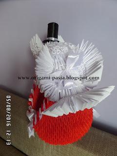 ślub, wesele, kosz, prezent, modułowe origami,