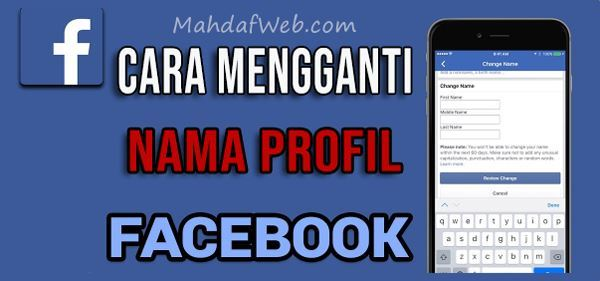 cara mengganti nama fb facebook ite di hp