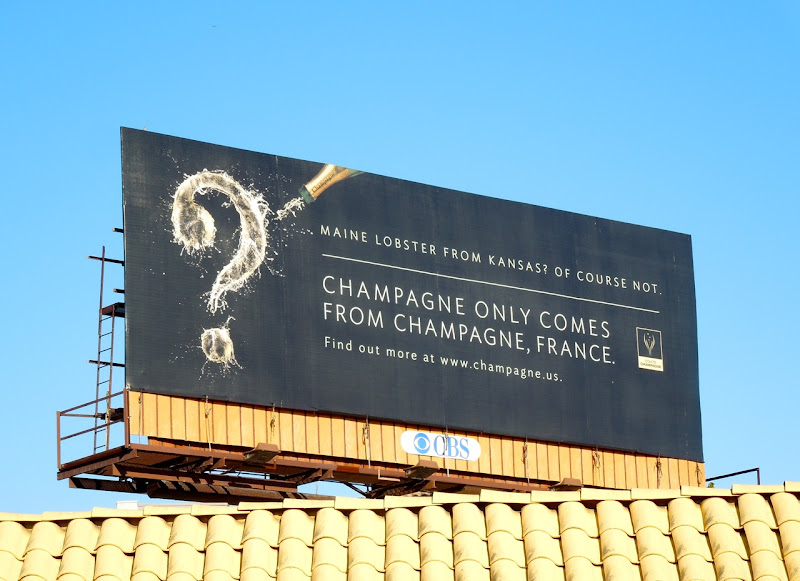 Champagne only from Champagne France billboard