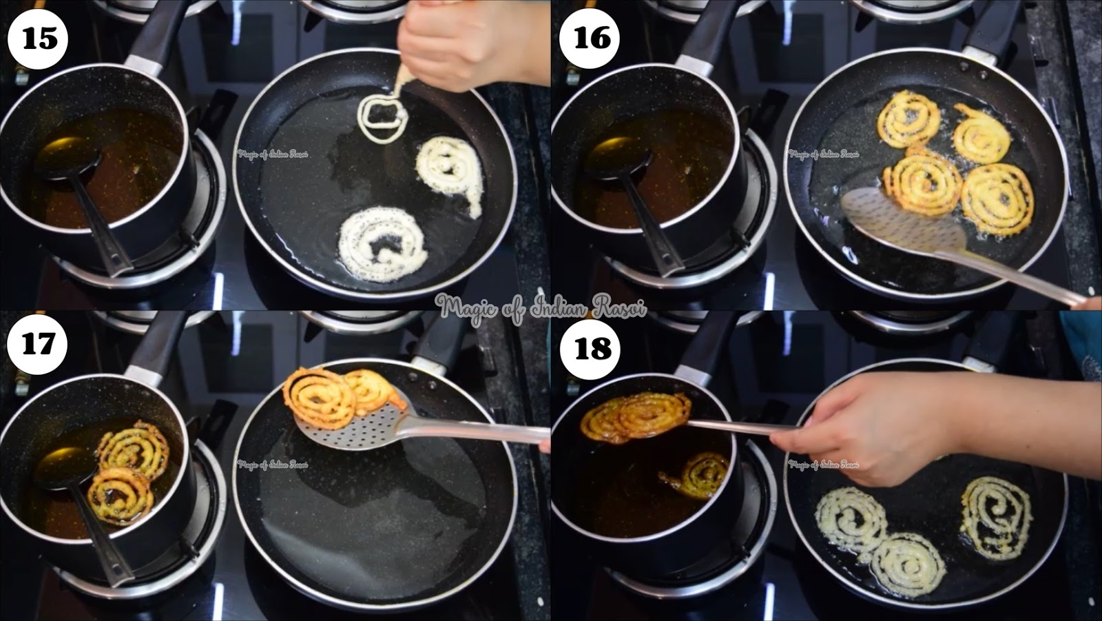 Instant Jalebi (No Yeast No Hydro) Recipe - इंस्टेंट जलेबी - बिना यीस्ट या हाइड्रो के रेसिपी - Priya R - Magic of Indian Rasoi