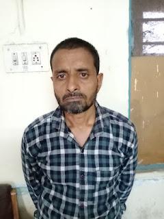 फरार इनामी बदमाश को पुलिस ने पकड़ा