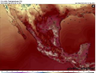 ADVERTENCIA: ola de calor afectara México en pleno invierno.