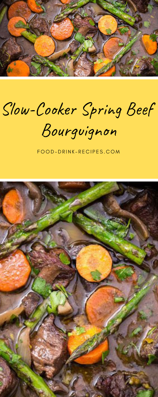 Slow-Cooker Spring Beef Bourguignon - food-drink-recipes.com