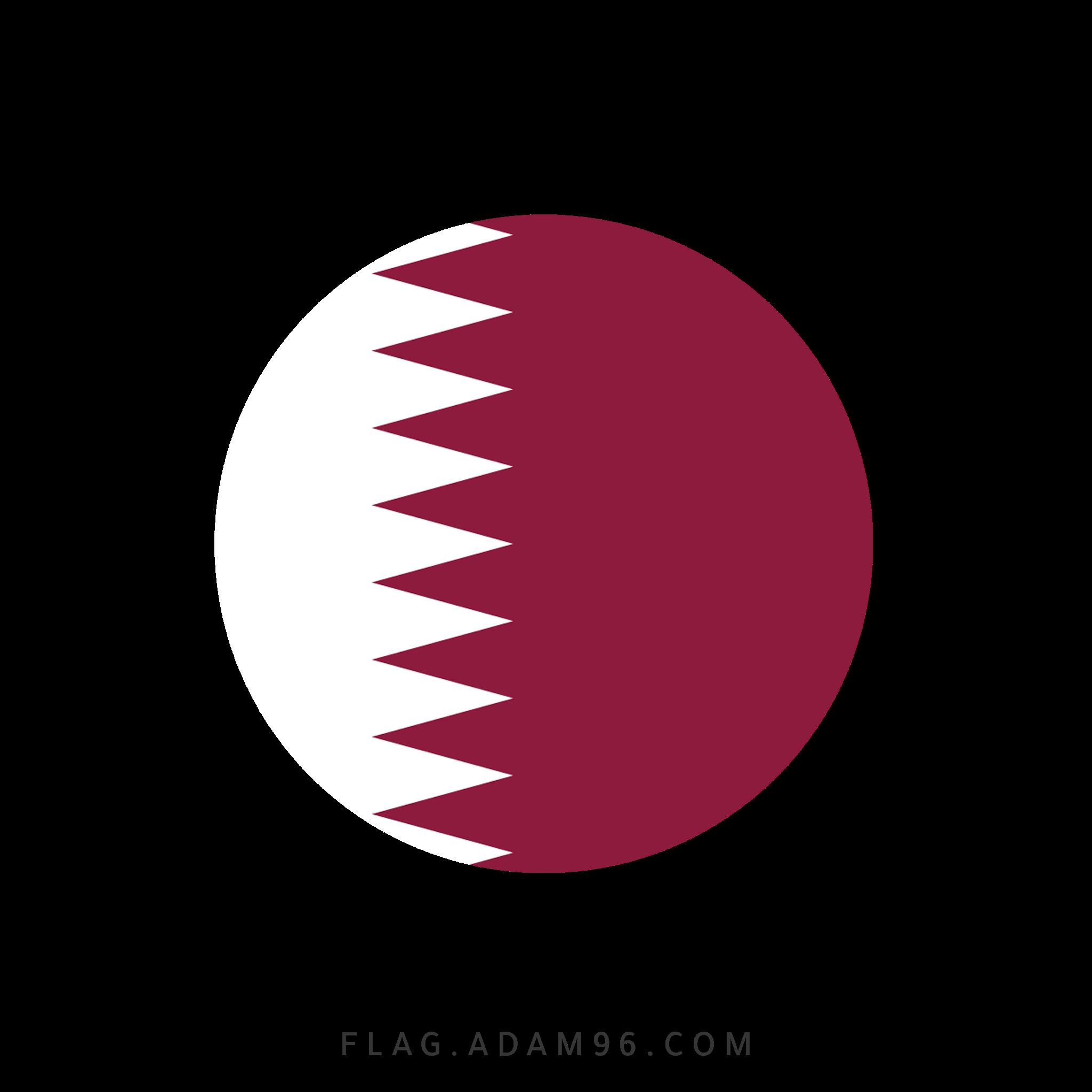 تحميل علم قطر بشكل دائري للتصميم خلفيات علم قطر للتصميم بصيغة PNG