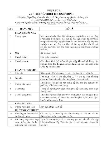 Tiêu chuẩn bàn giao dự án Việt Phát