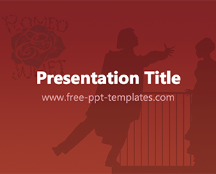 Free powerpoint templates free powerpoint templates for Romeo and juliet powerpoint template