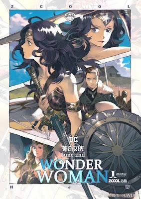 Póster chino de Wonder Woman