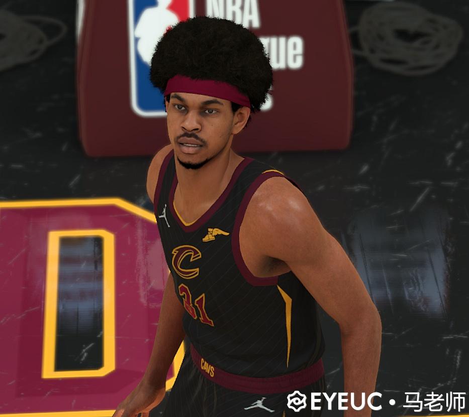 NBA 2K22 Jarrett Allen Cyberface Body Model by Teacher Ma