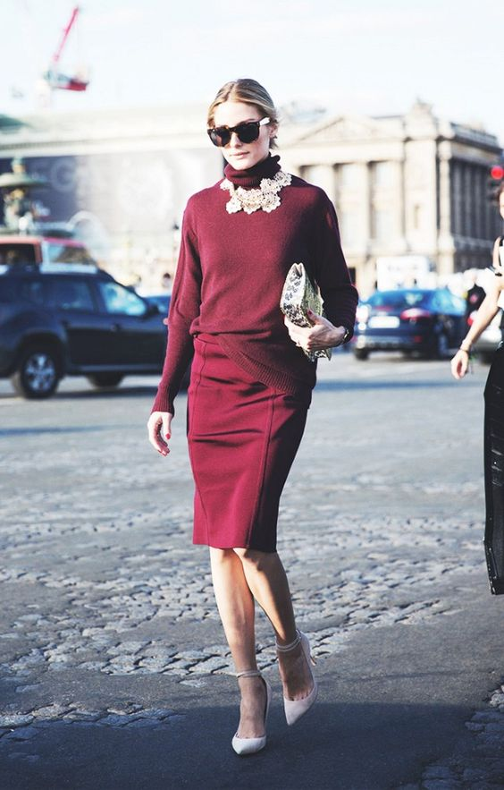 Burgundy celeb style
