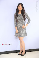 Actress Chandini Chowdary Pos in Short Dress at Howrah Bridge Movie Press Meet  0029.JPG