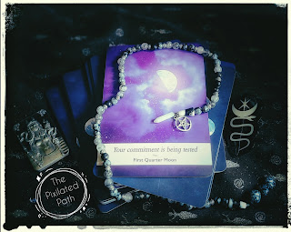 First Quarter Moon card from the Moonology Oracle deck.