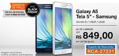 Pré Black Friday Samsung Galaxy A5