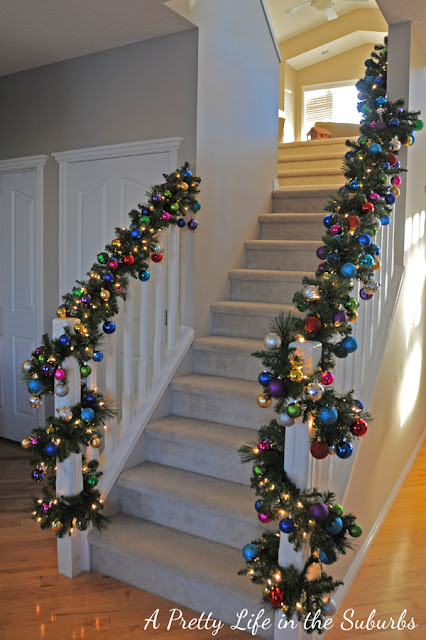 Colourful Christmas Staircase