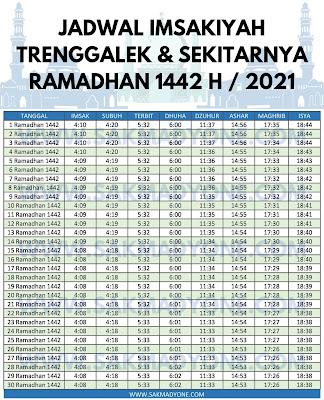 Jadwal imsakiyah ramadhan 2021 trenggalek