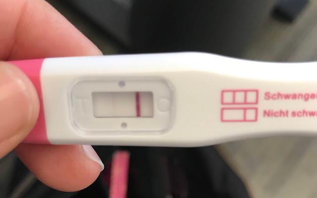 Schwangerschaftstest, schwach positiv