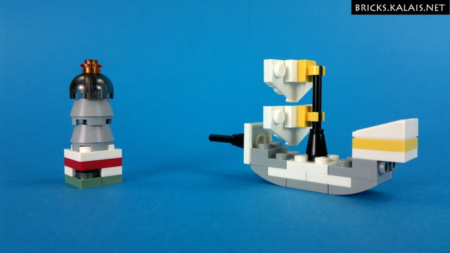 9. This one is my favorite I think. Ship. And there was enough bricks to build lighthouse!