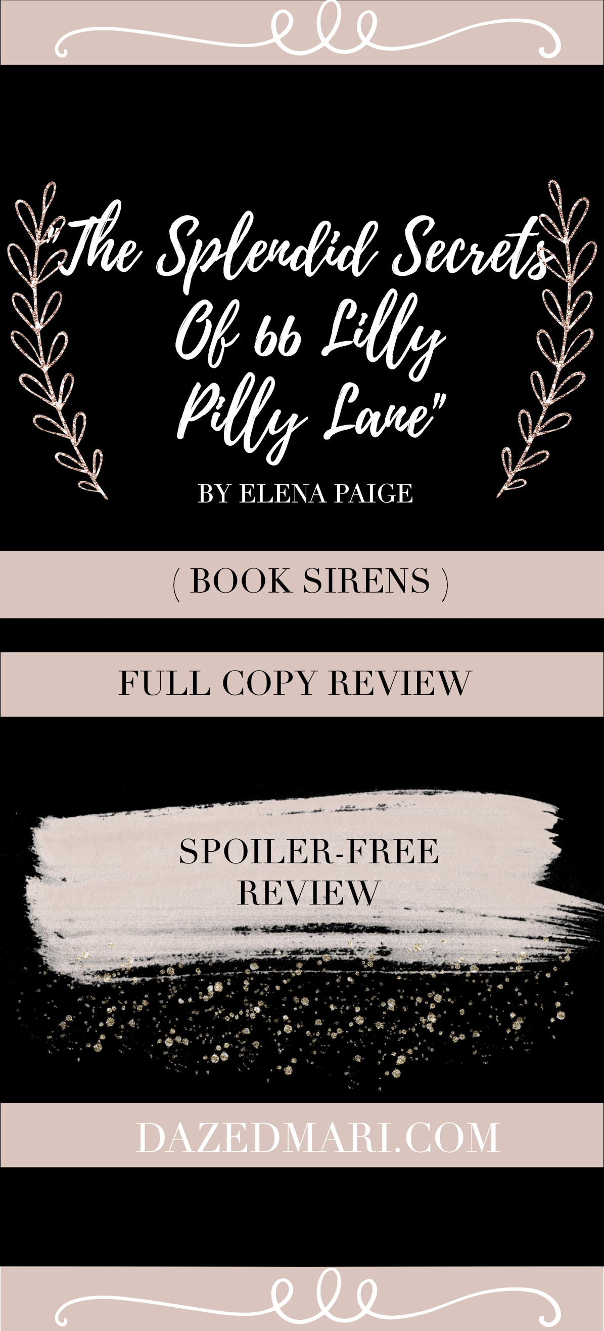 Book Review - The Splendid Secrets of 66 Lilly Pilly Lane by Elena Paige #BookSirens