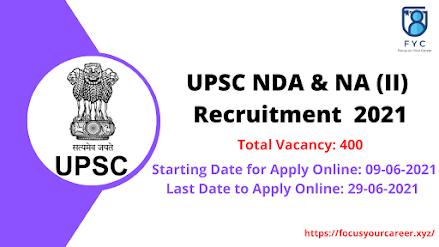 UPSC NDA & NA Job Notification 2021