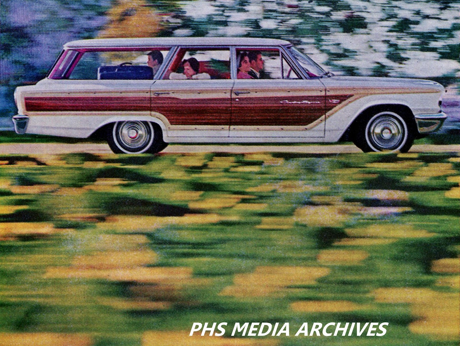 Ford Station Wagon Line Up 1963 Phscollectorcarworld 1960 Studebaker Lark Wiring Diagram The Big Galaxie Country Squire 9 Passenger In Colonial White With Red Interior Is Shown Here